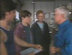 Drew Kirk, Paul McClain, Patrick Greenwood, Lou Carpenter in Neighbours Episode 3114