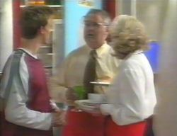 Billy Kennedy, Harold Bishop, Madge Bishop in Neighbours Episode 3114