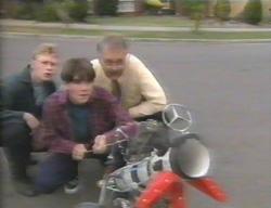 Patrick Greenwood, Paul McClain, Harold Bishop in Neighbours Episode 3114