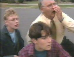 Patrick Greenwood, Paul McClain, Harold Bishop in Neighbours Episode 3114