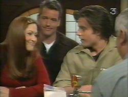 Sarah Beaumont, Alex Fenton, Drew Kirk, Lou Carpenter in Neighbours Episode 3124
