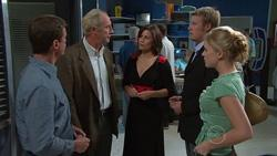 Paul Robinson, Stanford Mundy, Rebecca Napier, Oliver Barnes, Elle Robinson in Neighbours Episode 5266