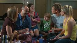 Miranda Parker, Steve Parker, Bridget Parker, Mickey Gannon, Ned Parker, Janae Timmins in Neighbours Episode 5267
