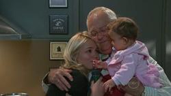 Sky Mangel, Harold Bishop, Kerry Mangel (baby) in Neighbours Episode 5269