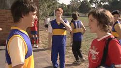 Zeke Kinski, Justin Hunter, Bridget Parker in Neighbours Episode 5272