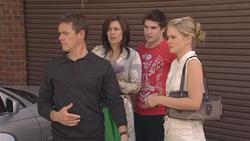 Paul Robinson, Rebecca Napier, Declan Napier, Elle Robinson in Neighbours Episode 5274