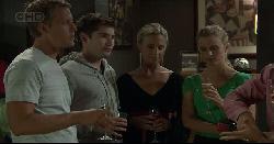 Oliver Barnes, Declan Napier, Kirsten Gannon, Elle Robinson, Paul Robinson in Neighbours Episode 5448