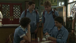 Bridget Parker, Declan Napier, Ringo Brown, Zeke Kinski in Neighbours Episode 5454