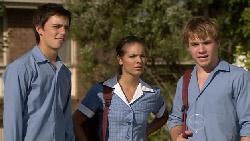 Zeke Kinski, Rachel Kinski, Ringo Brown in Neighbours Episode 5455