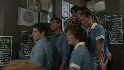 Declan Napier, Ringo Brown, Bridget Parker, Taylah Jordan, Zeke Kinski, Rachel Kinski in Neighbours Episode 5455