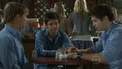 Ringo Brown, Zeke Kinski, Declan Napier in Neighbours Episode 5473