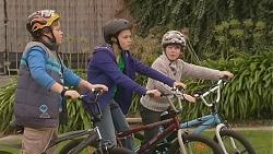 Callum Jones, Sophie Ramsay, Ben Kirk in Neighbours Episode 6004