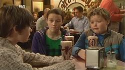 Ben Kirk, Sophie Ramsay, Callum Jones in Neighbours Episode 6004