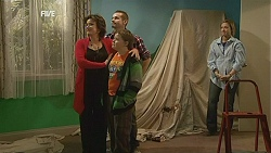 Lyn Scully, Toadie Rebecchi, Callum Jones, Sonya Mitchell in Neighbours Episode 6010
