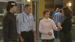 Declan Napier, Karl Kennedy, Susan Kennedy, Rebecca Napier in Neighbours Episode 6015