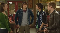 Kate Ramsay, Declan Napier, Zeke Kinski, Ringo Brown in Neighbours Episode 6015