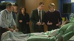 Karl Kennedy, Declan Napier, Rebecca Napier, Mark Brennan, Andrew Robinson, Paul Robinson in Neighbours Episode 6016