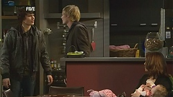 Declan Napier, Andrew Robinson, Rebecca Napier, India Napier in Neighbours Episode 6020