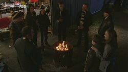 Toadie Rebecchi, Zeke Kinski, Kate Ramsay, Sophie Ramsay, Paul Robinson, Karl Kennedy, Declan Napier, Sonya Mitchell, Callum Jone in Neighbours Episode 6028