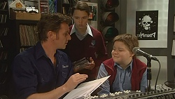 Lucas Fitzgerald, Sophie Ramsay, Callum Jones in Neighbours Episode 6029