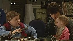 Callum Jones, Declan Napier, India Napier in Neighbours Episode 6029