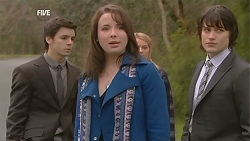 Zeke Kinski, Kate Ramsay, Donna Freedman, Declan Napier in Neighbours Episode 6032