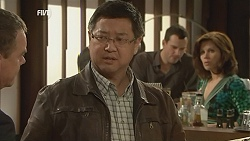 Paul Robinson, Ryan Chew, Rebecca Napier in Neighbours Episode 6032
