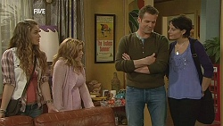 Poppy Rogers, Natasha Williams, Michael Williams, Ruby Rogers in Neighbours Episode 6034