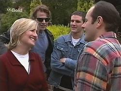 Jen Handley, Brook Allen, Luke Handley, Philip Martin in Neighbours Episode 2418