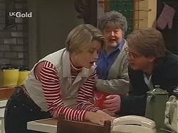 Danni Stark, Marlene Kratz, Brett Stark in Neighbours Episode 2420