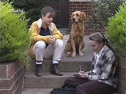 Hannah Martin, Holly, Libby Kennedy in Neighbours Episode 2421