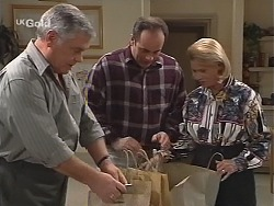 Lou Carpenter, Philip Martin, Helen Daniels in Neighbours Episode 2421