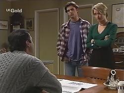 Karl Kennedy, Malcolm Kennedy, Danni Stark in Neighbours Episode 2423