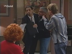 Cheryl Stark, Mike Spagnolo, Lou Carpenter, Brett Stark in Neighbours Episode 2429