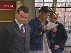 Stonie Rebecchi, Malcolm Kennedy, Danni Stark in Neighbours Episode 2435