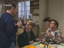 Stonie Rebecchi, Brett Stark, Malcolm Kennedy in Neighbours Episode 2435