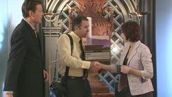 Christian Johnson, Karl Kennedy, Julia Sanders in Neighbours Episode 5278