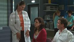 Dr. Peggy Newton, Rebecca Napier, Paul Robinson in Neighbours Episode 5281