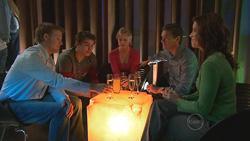 Oliver Barnes, Declan Napier, Elle Robinson, Paul Robinson, Rebecca Napier in Neighbours Episode 5283
