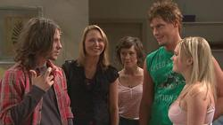 Riley Parker, Miranda Parker, Bridget Parker, Ned Parker, Janae Timmins in Neighbours Episode 5285