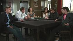 Oliver Barnes, Toadie Rebecchi, Rosie Cammeniti, Rebecca Napier, Paul Robinson, Declan Napier in Neighbours Episode 5290