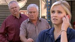 Harold Bishop, Lou Carpenter, Janae Timmins in Neighbours Episode 5293