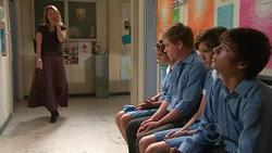 Miranda Parker, Rachel Kinski, Ringo Brown, Bridget Parker, Zeke Kinski in Neighbours Episode 5298