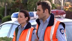 Snr. Const. Sophie Cooper, Adam Rhodes in Neighbours Episode 5299
