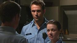 Paul Robinson, Adam Rhodes, Snr. Const. Sophie Cooper in Neighbours Episode 5299