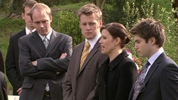 Tim Collins, Oliver Barnes, Rebecca Napier, Declan Napier in Neighbours Episode 5301