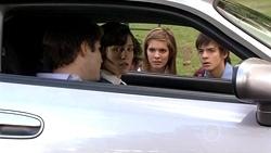 Declan Napier, Bridget Parker, Rachel Kinski, Zeke Kinski in Neighbours Episode 5301