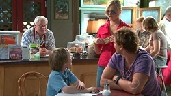 Lou Carpenter, Mickey Gannon, Janae Timmins, Ned Parker in Neighbours Episode 5304