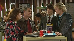 Rebecca Napier, Paul Robinson, Declan Napier, Andrew Robinson in Neighbours Episode 6037