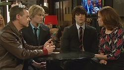 Paul Robinson, Andrew Robinson, Declan Napier, Rebecca Napier in Neighbours Episode 6037